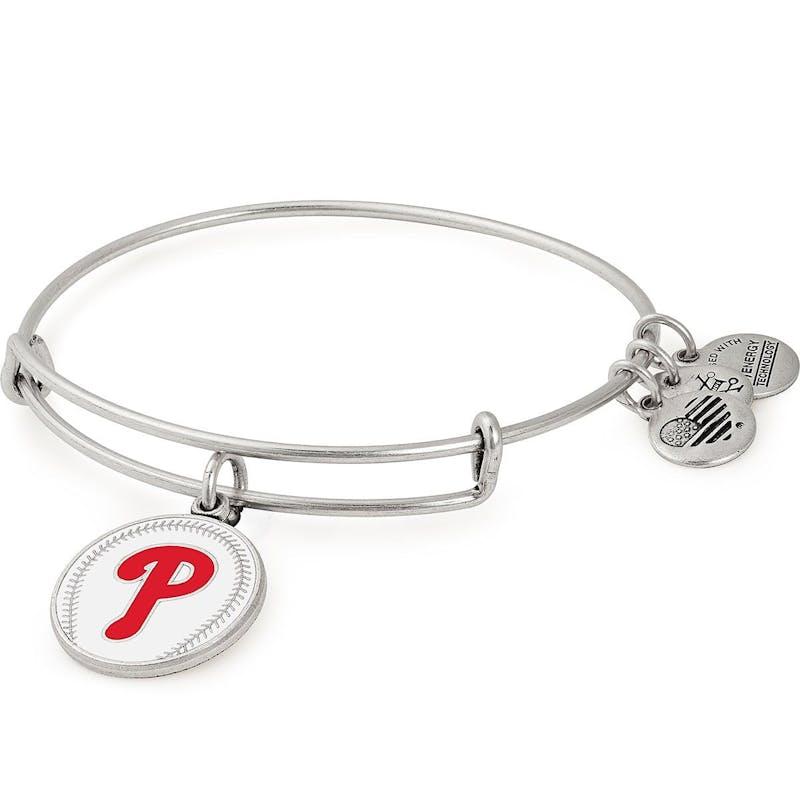 Philadelphia Phillies MLB Charm Bangle, Rafaelian Silver, Alex and Ani