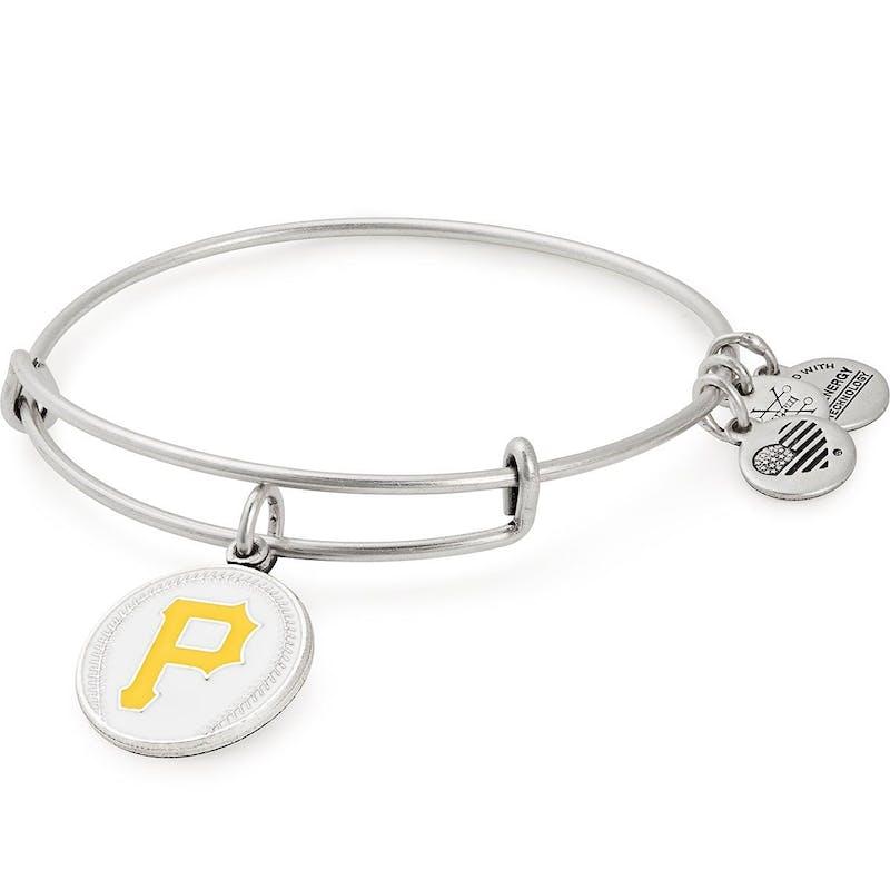 Pittsburgh Pirates MLB Charm Bangle, Rafaelian Silver, Alex and Ani