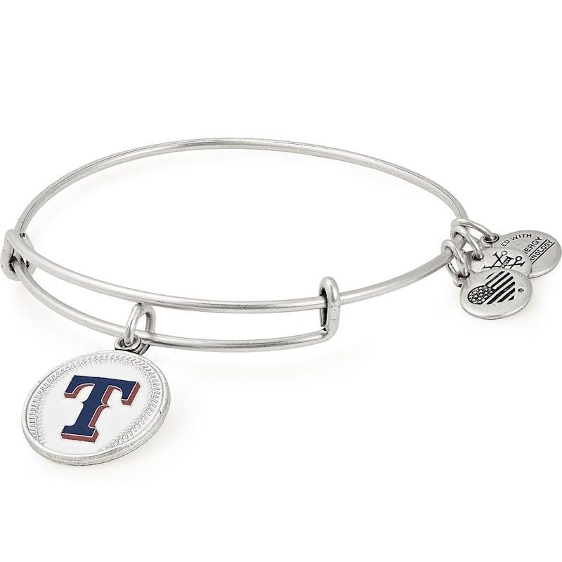 Texas Rangers MLB Charm Bangle, Rafaelian Silver, Alex and Ani