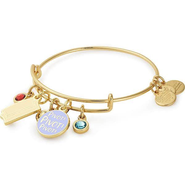 Friends Couch + 'Pivot' Cluster Charm Bangle, Shiny Gold, Alex and Ani