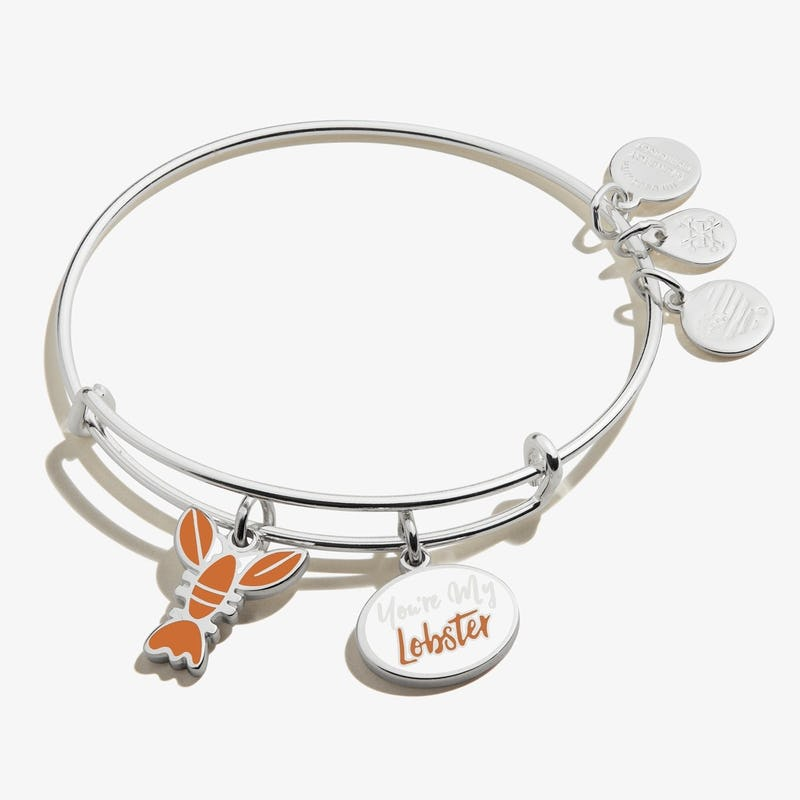 Friends 'You're My Lobster' Duo Charm Bangle, Shiny Silver, Alex and Ani