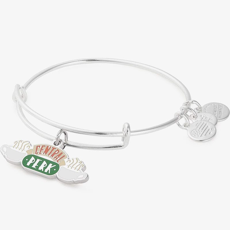 Friends Central Perk Charm Bangle, Shiny Silver, Alex and Ani