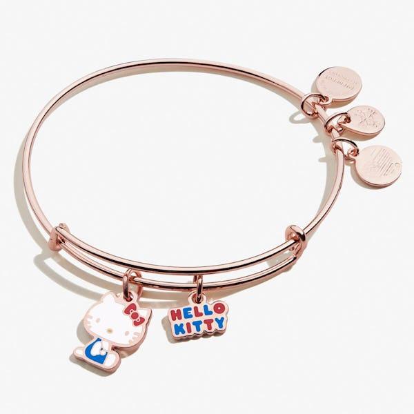 Hello Kitty Charm Bangle, Shiny Rose Gold, Alex and Ani