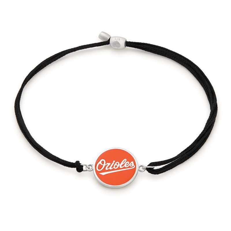 Baltimore Orioles MLB Charm Pull Cord Bracelet