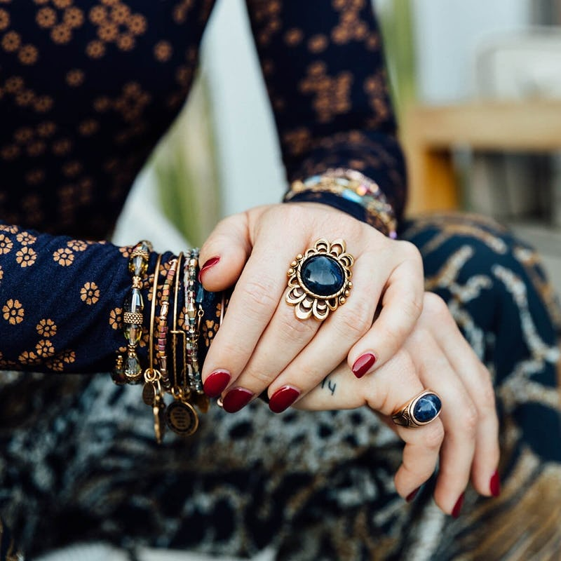 Blue Matrix Cocktail Ring