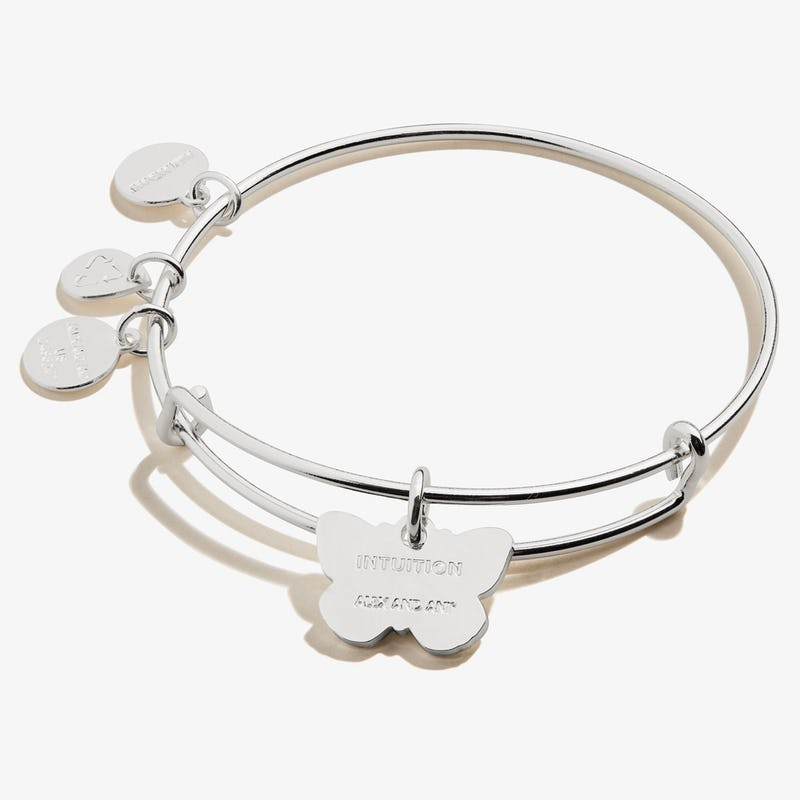 Cabbage White Butterfly Charm Bangle