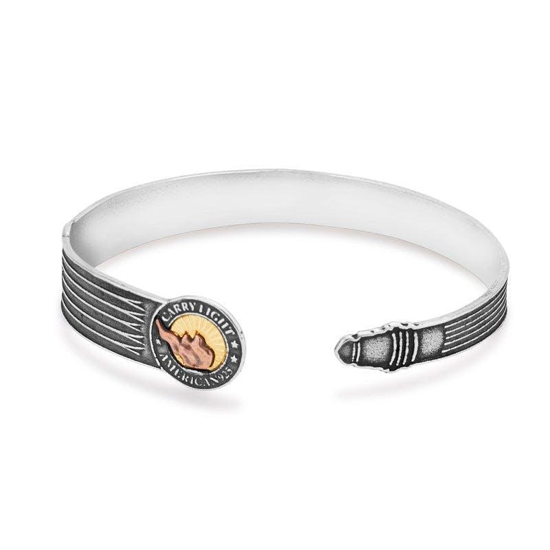 Liberty Copper™ Cuff Bracelet, 14kt Gold Center