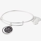 'To the Moon and Back' Charm Bangle, Shiny Silver, Alex and Ani