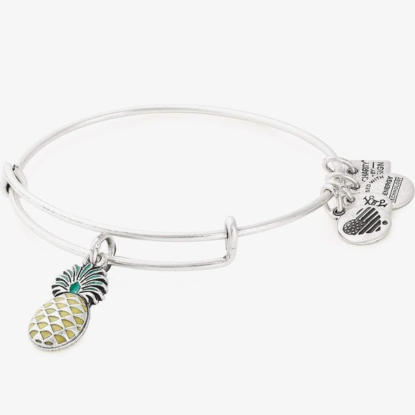 Pineapple Charm Bangle, Color Infusion, Rafaelian Silver, Alex and Ani