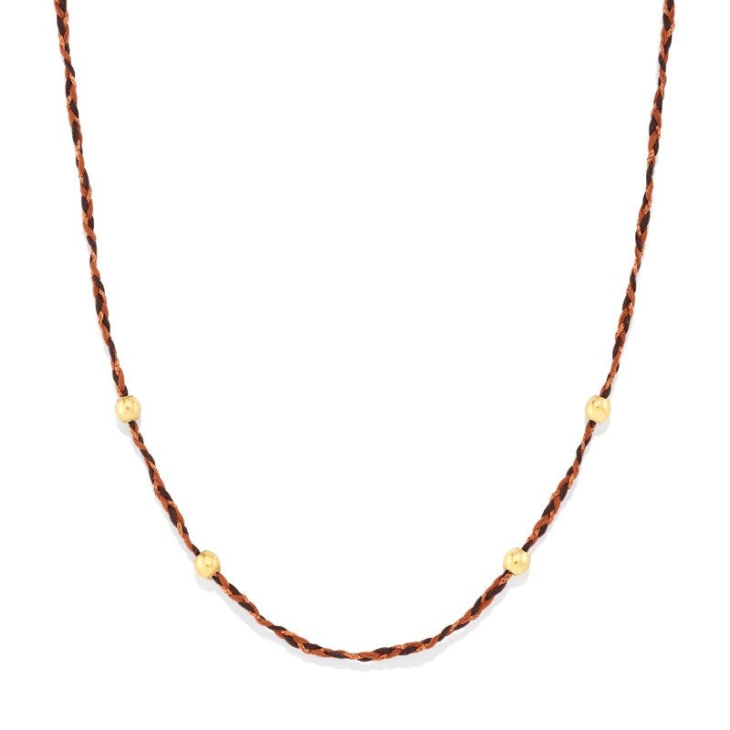 Dark Brown Precious Threads Necklace