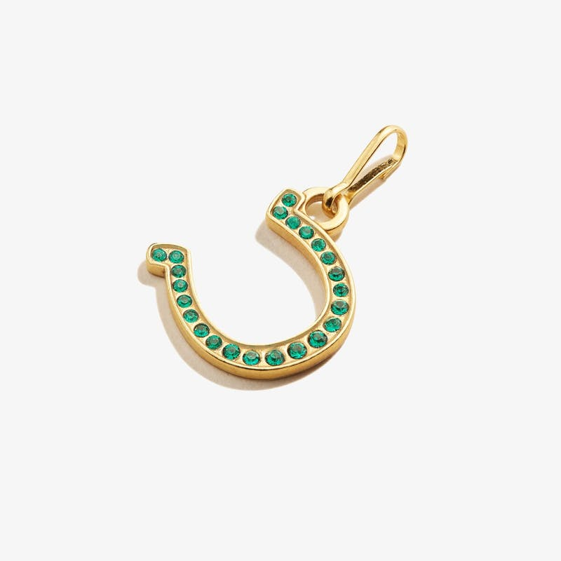 Pavé Horseshoe Charm, 14kt Gold over .925 Sterling Silver, Alex and Ani