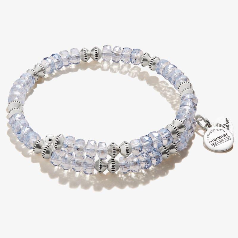Dazzle Wrap Bracelet, Ice Blue
