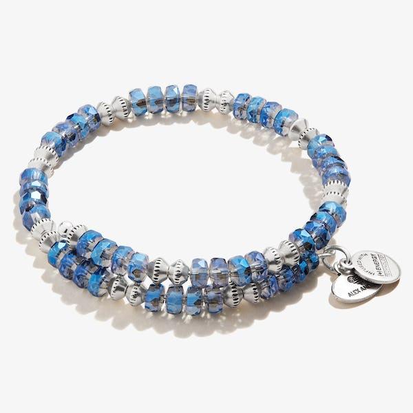 Dazzle Wrap Bracelet, Sapphire Blue