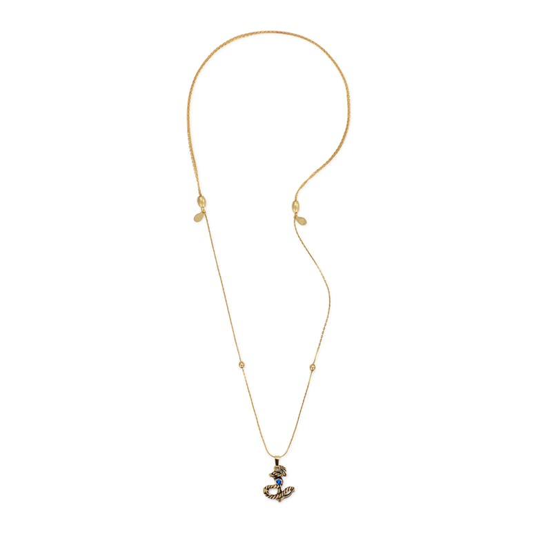 Anchor III Charm Necklace