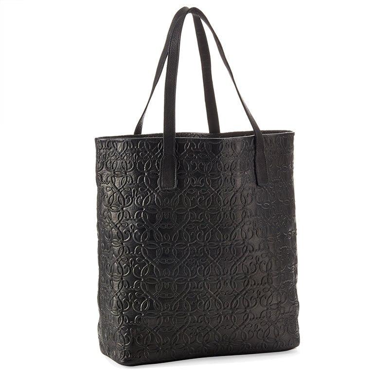 Gabriel Leather Tote, Black