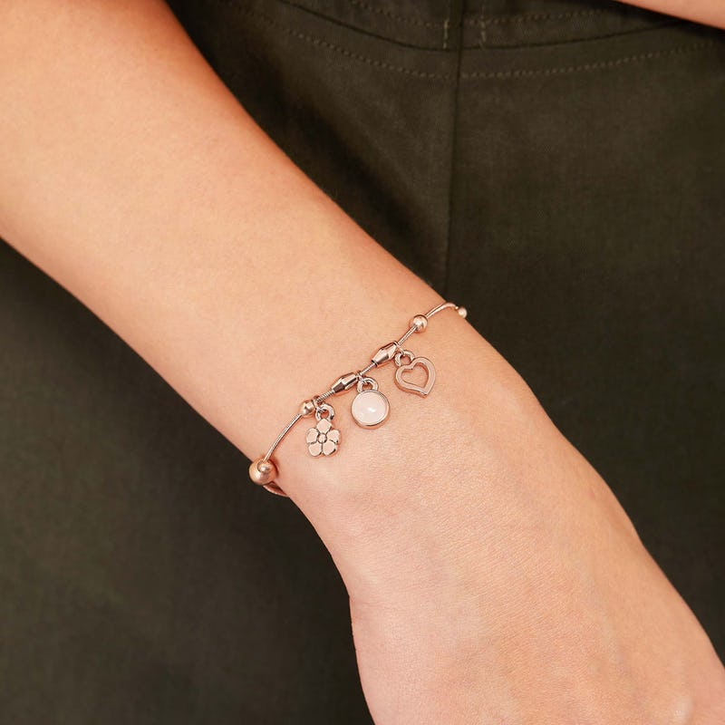Joy + Love Multi-Charm Bracelet