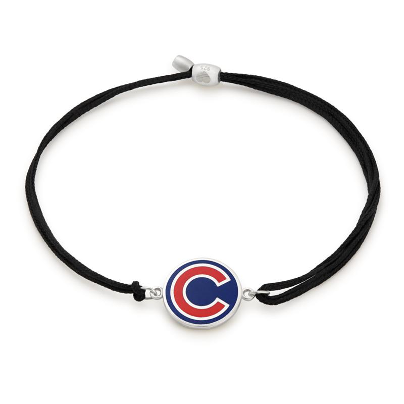 Chicago Cubs MLB Charm Pull Cord Bracelet