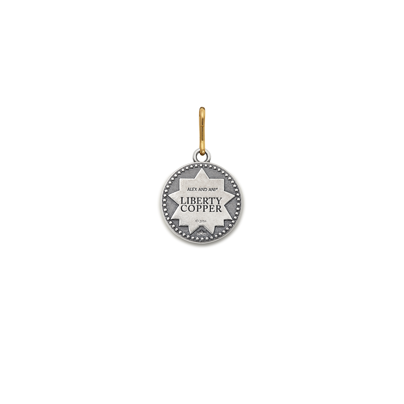 Liberty Copper™ Charm, 14kt Gold Center, Small