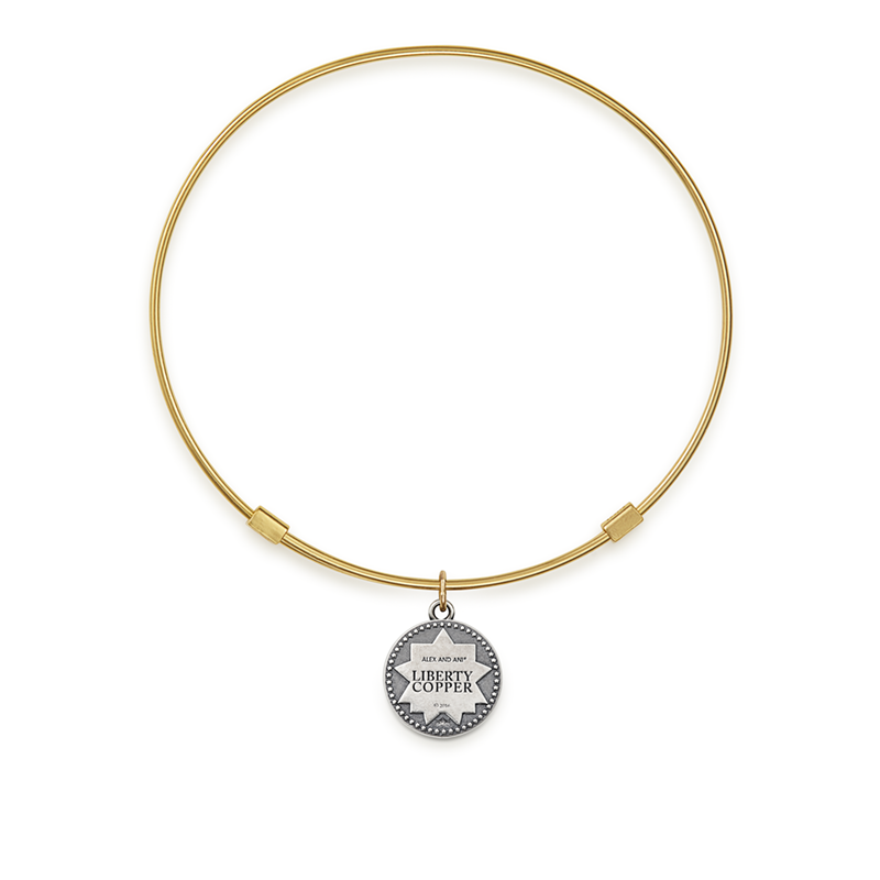 Liberty Copper™ Bangle, 14kt Gold Filled Charm, Small