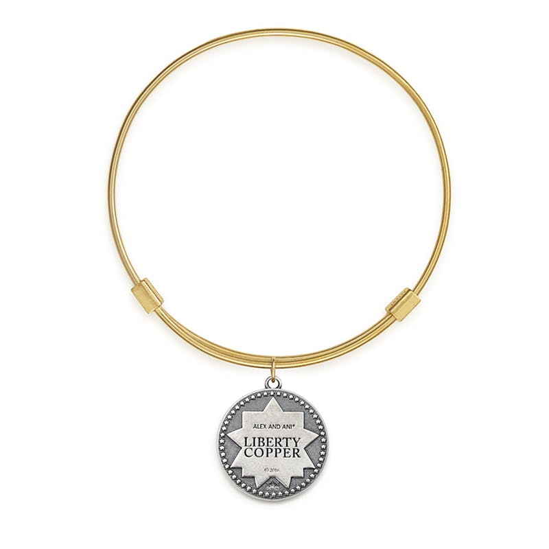 Liberty Copper™ Bangle, 14kt Gold Filled Charm, Medium