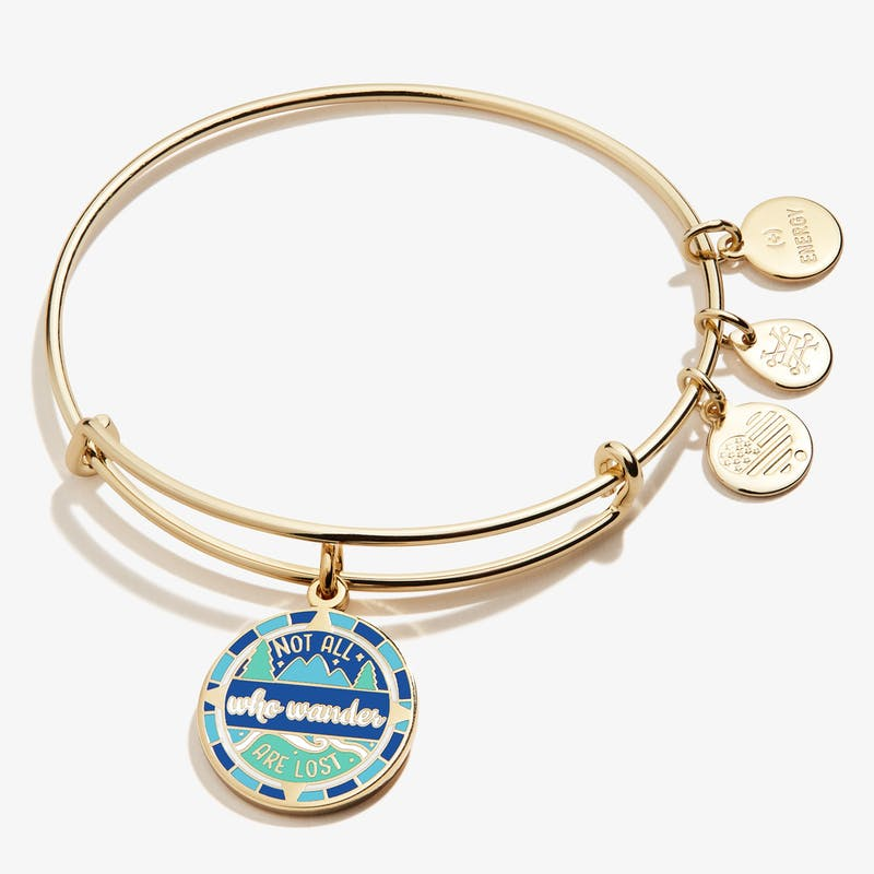 'Not All Who Wander Are Lost' Charm Bangle