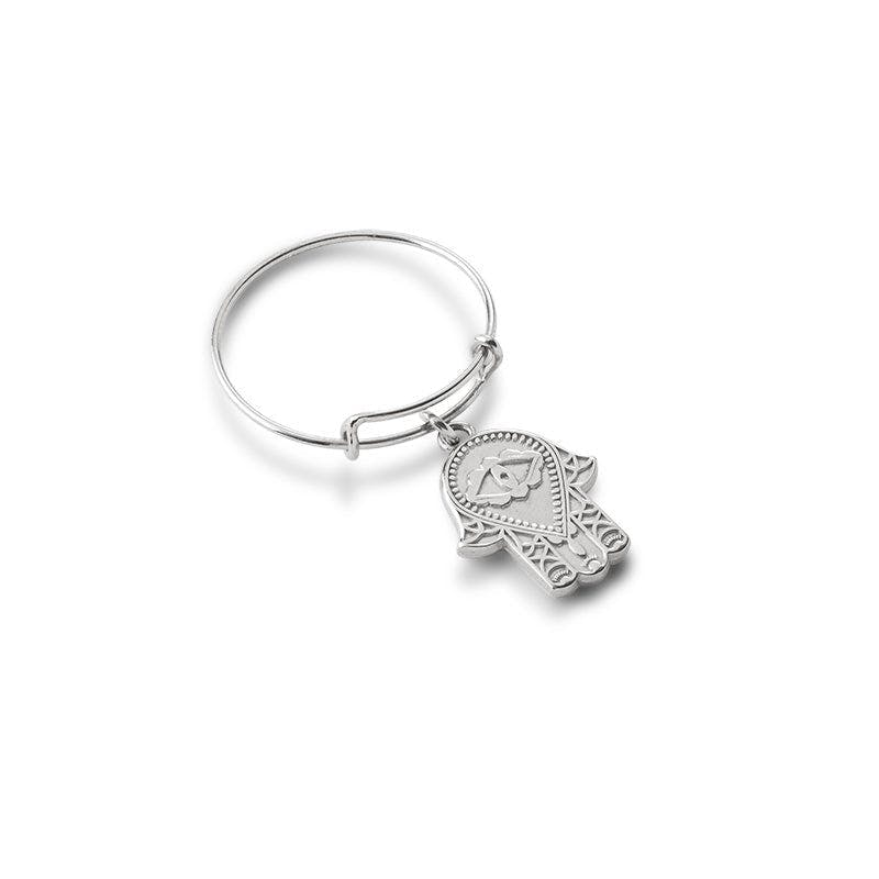 Hamsa Wire Ring, Expandable