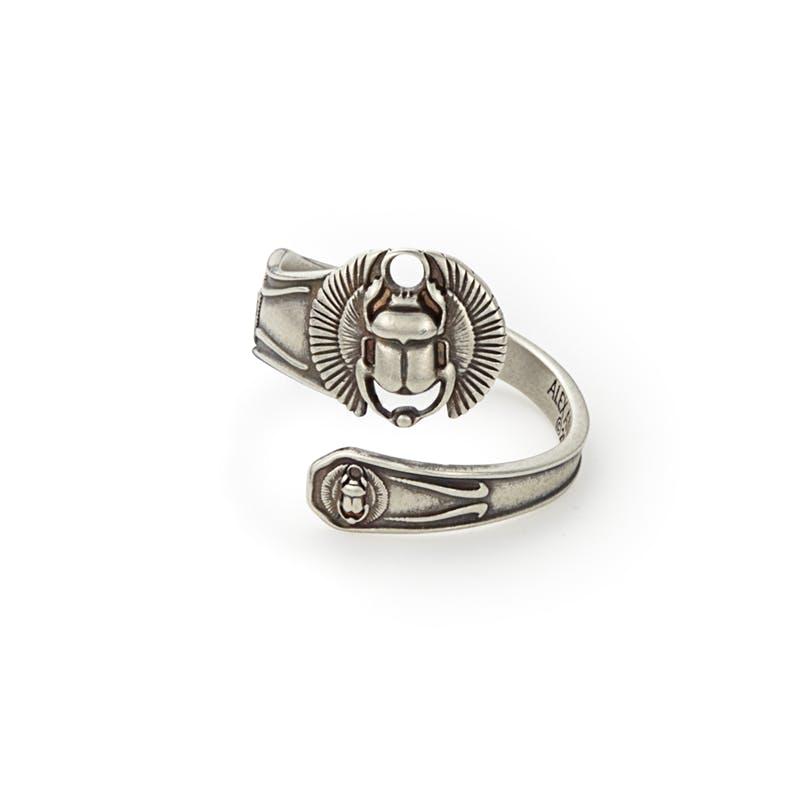 Scarab Spoon Ring