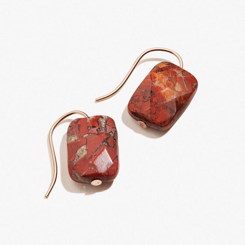 Rainbow Jasper Gemstone Drop Earrings