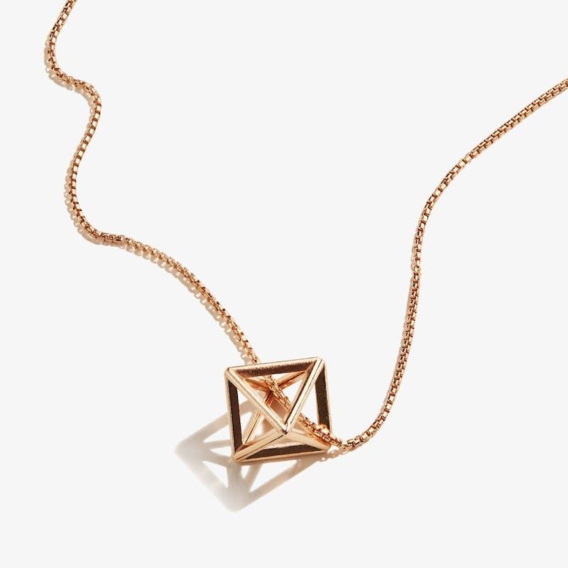 3D Octahedron Necklace