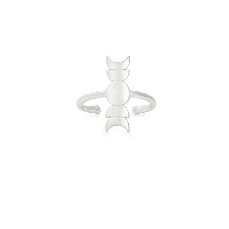 Moon Phase Adjustable Ring, .925 Sterling Silver, Alex and Ani
