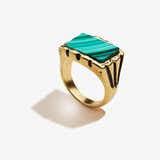 Malachite Gemstone Signet Ring