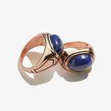 Sodalite Gemstone Signet Ring