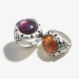 Fluorite Gemstone Signet Ring