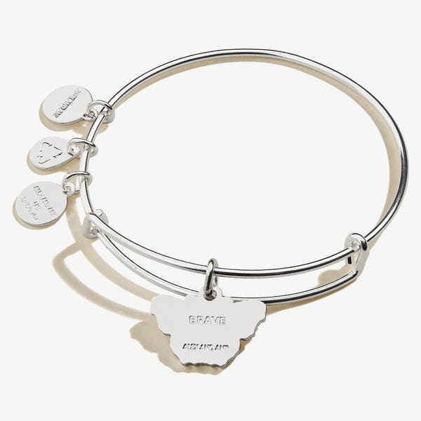 Peacock Butterfly Charm Bangle