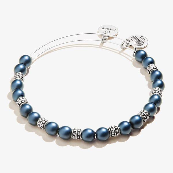 Pearl Beaded Bangle, Sapphire Blue
