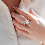 Pearl + Crystal Cocktail Ring