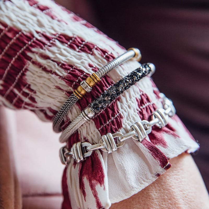 Starlight Mesh Cuff Bracelet