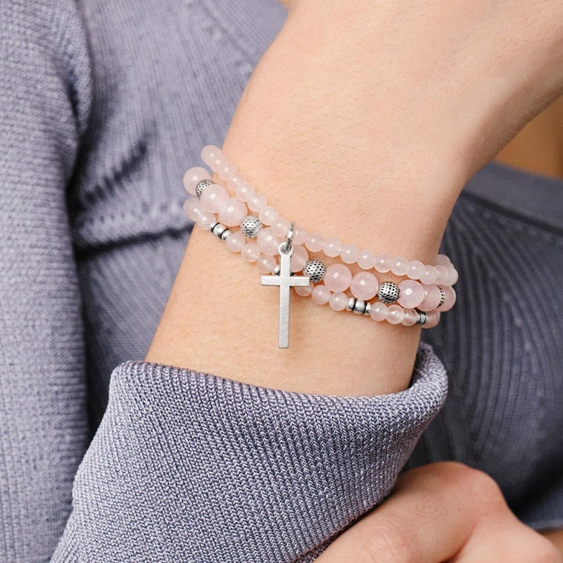 Cross Stretch Bracelets, Set of 3