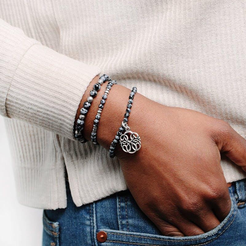 Path of Life® Charm Beaded Stretch Bracelets, Set of 3