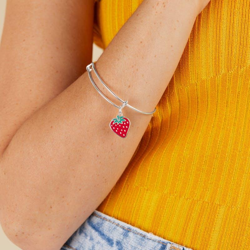 Strawberry Charm Bangle