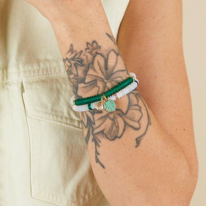 Token of Strength Puka Stretch Bracelets, Set of 2