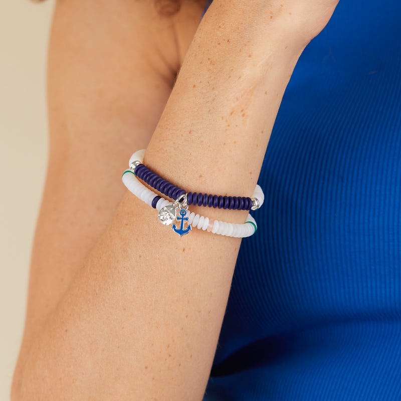 Token of Protection Puka Stretch Bracelets, Set of 2