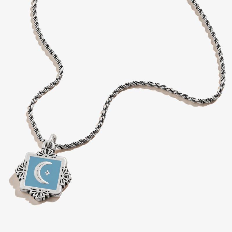 Token of Wisdom Moon Charm Necklace