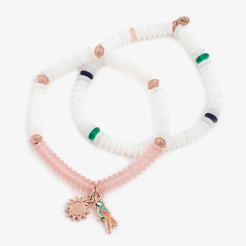 Token of Celebration Puka Stretch Bracelets, Set of 2