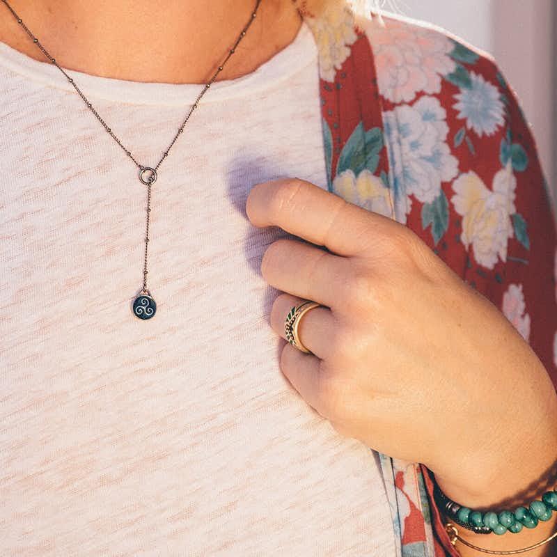 Triskelion Lariat Necklace
