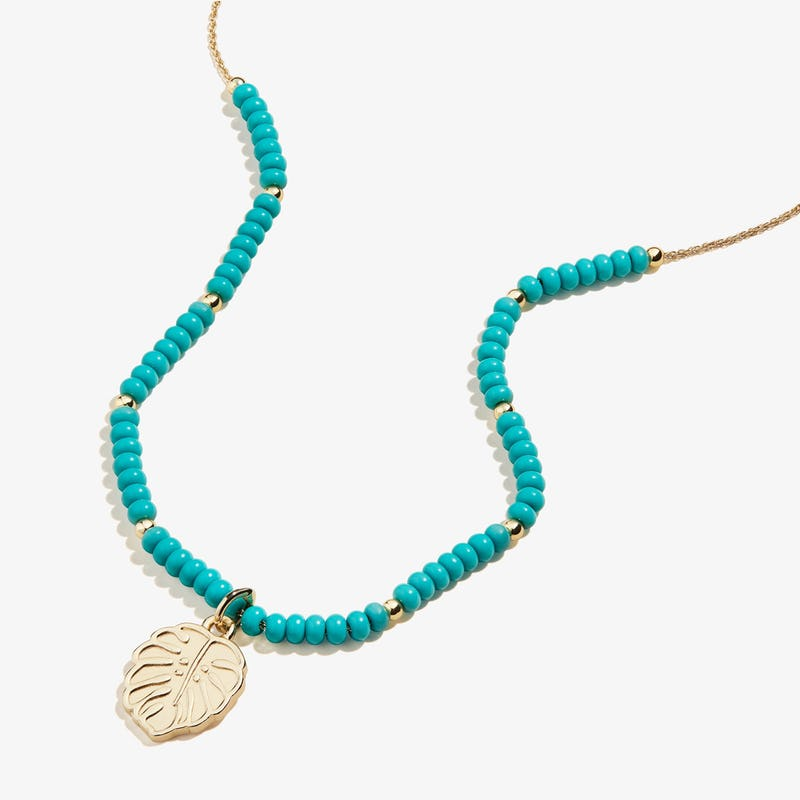 Tropical Leaf Charm Necklace