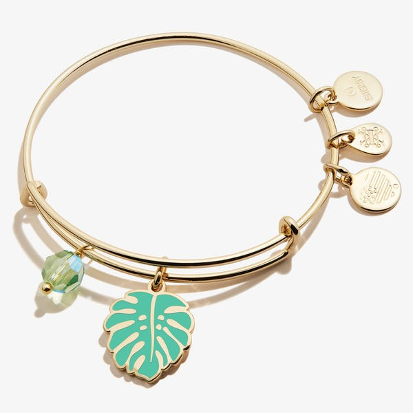 Tropical Leaf Duo Charm Bangle