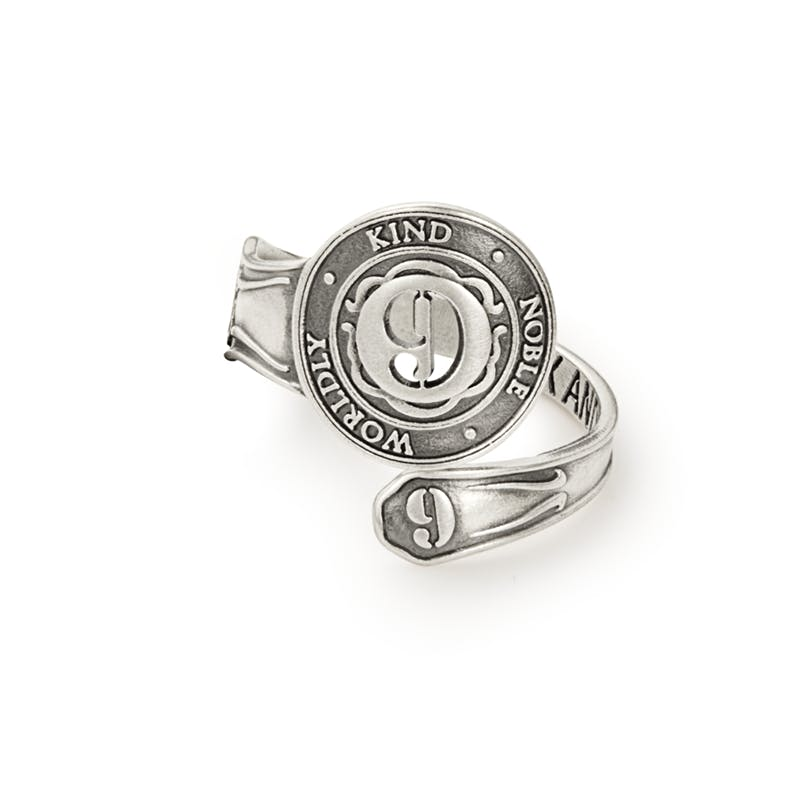 Number 9 Spoon Ring