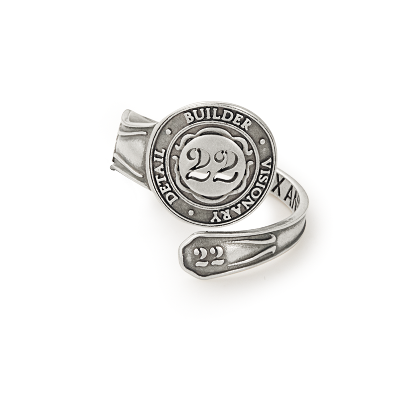 Number 22 Spoon Ring