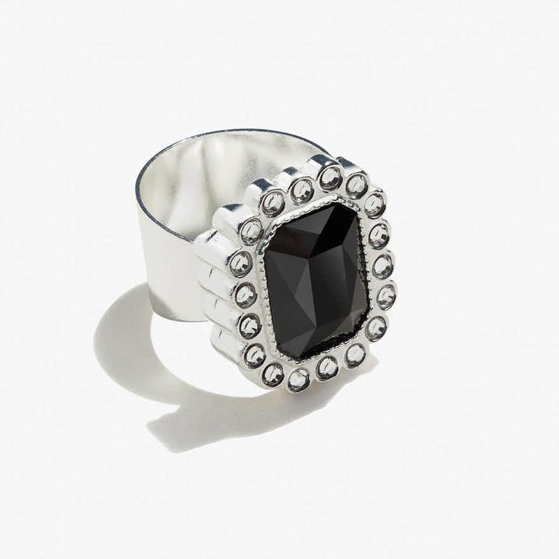 Black Emerald Cocktail Ring